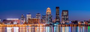 Header - Contact Louisville Skyline at Night